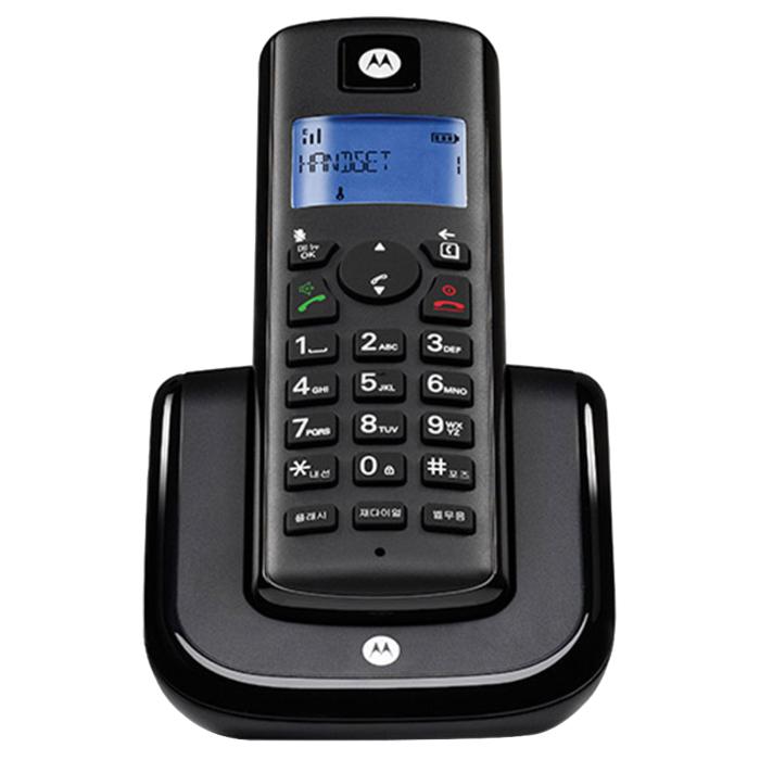 모토로라 1.7GHz 디지털 무선 전화기 T201A, T201A (블랙)