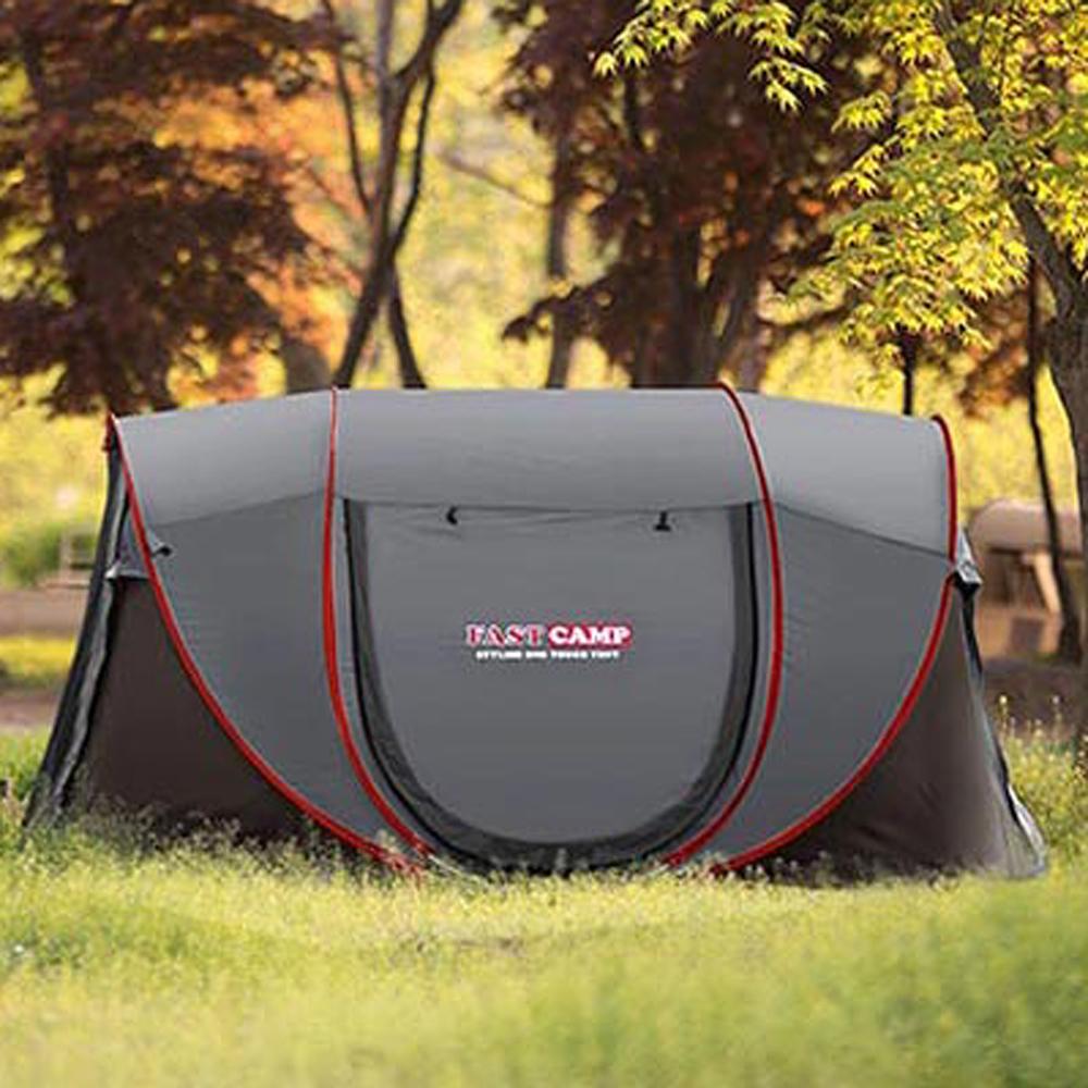 패스트캠프 슈퍼빅5 원터치 텐트, 그레이, 5인용