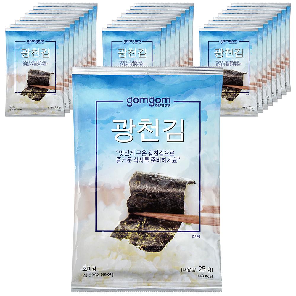 곰곰 광천김 전장, 25g, 25봉