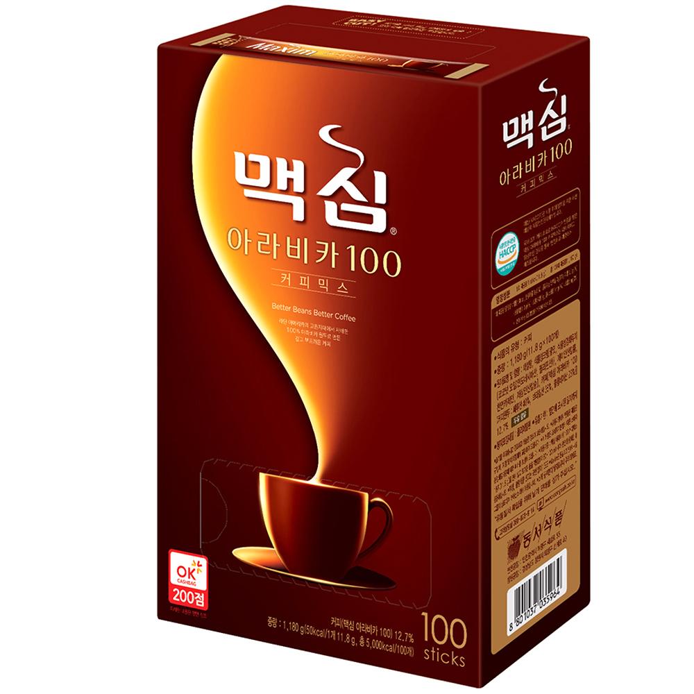 맥심 아라비카 100 커피믹스, 11.8g, 100개입