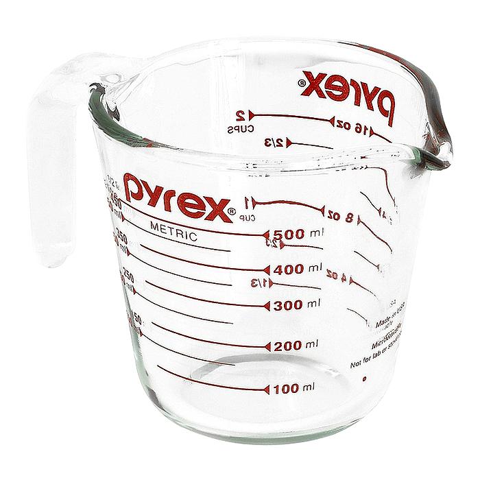 파이렉스 내열강화유리 계량컵, 500ml
