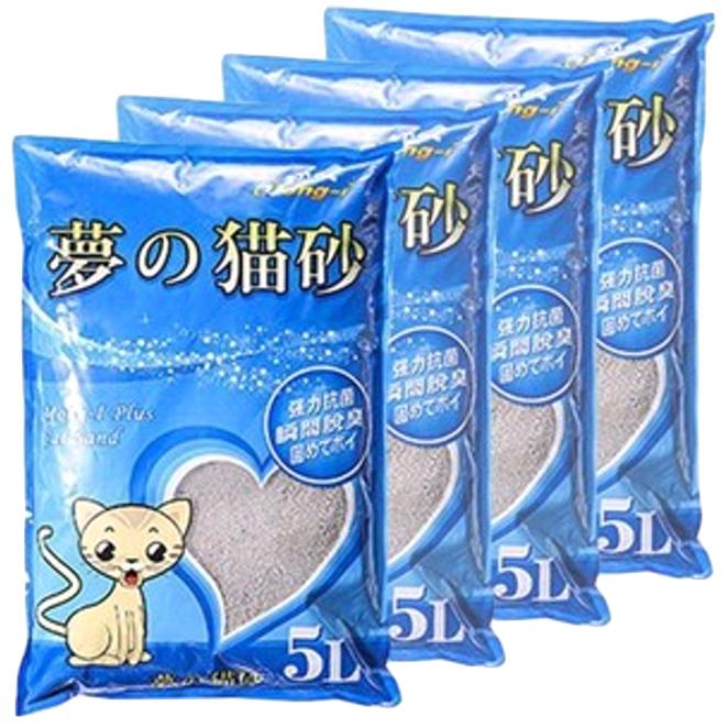 몽이 고양이모래 5L, 4개입