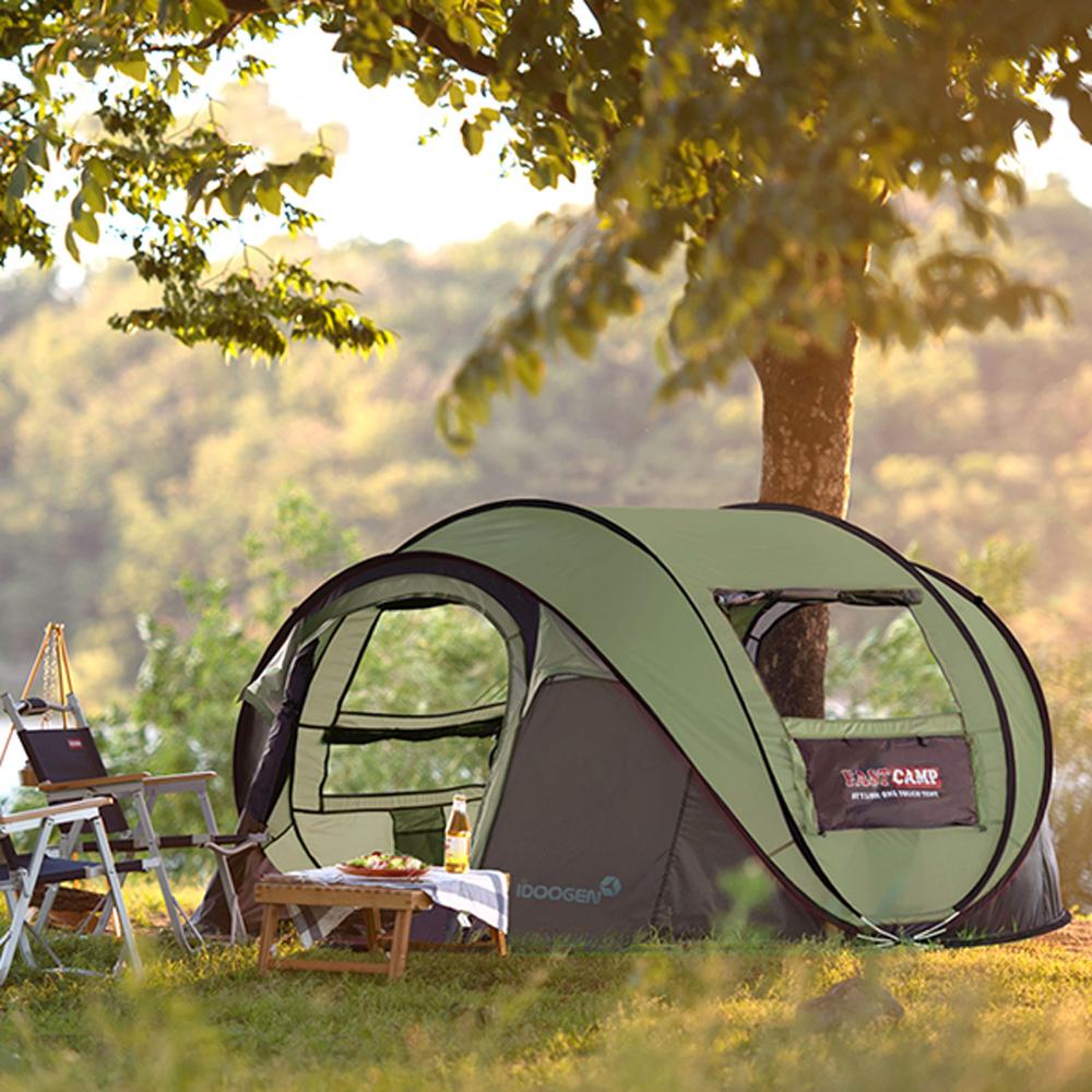 패스트캠프 메가5 원터치 텐트, 올리브그린, 5인용