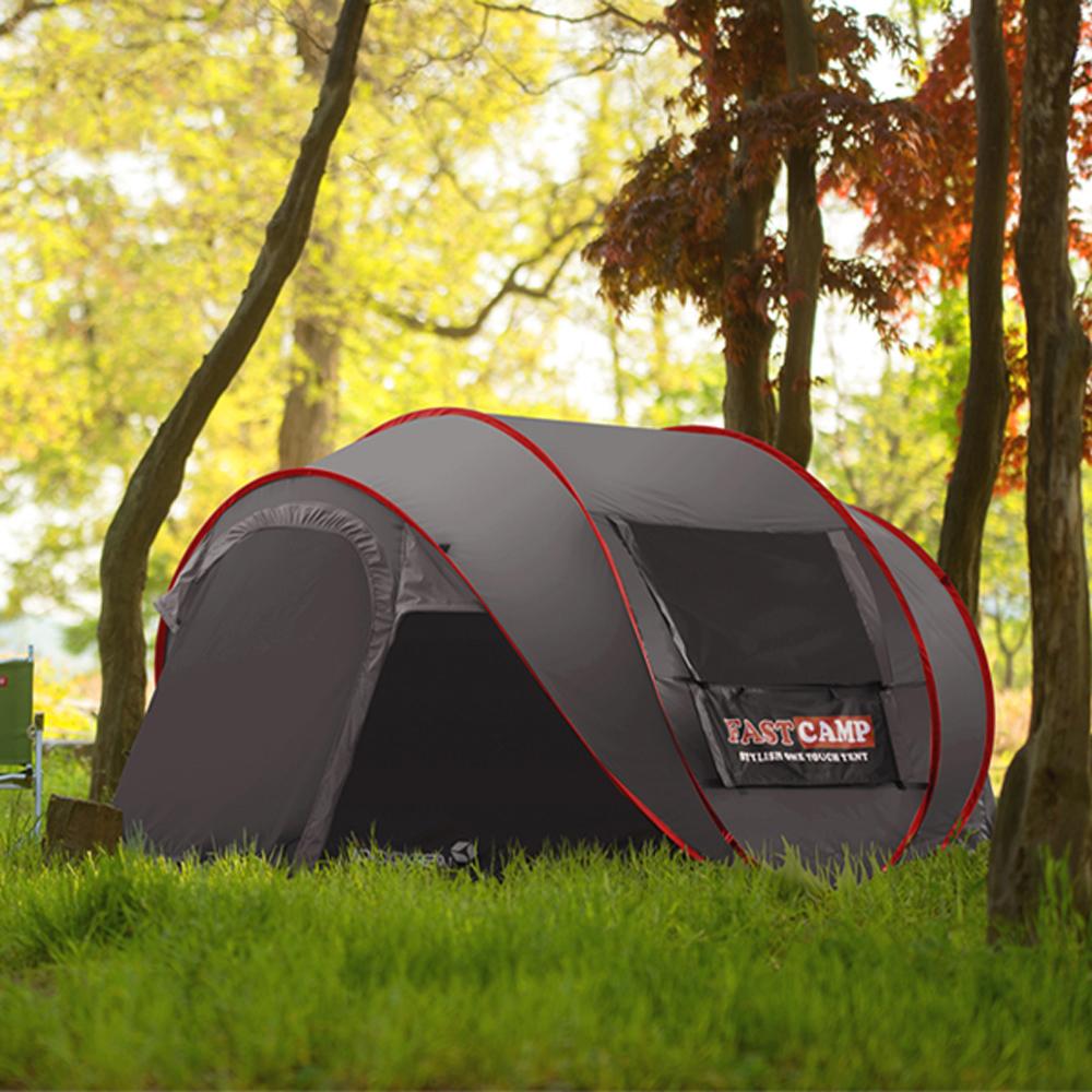 패스트캠프 메가5 원터치 텐트, 그레이, 5인용