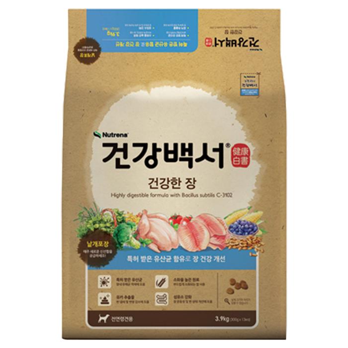 카길 건강백서 전연령 생선 건강한 장 기능성 애견사료, 3.9kg, 1개