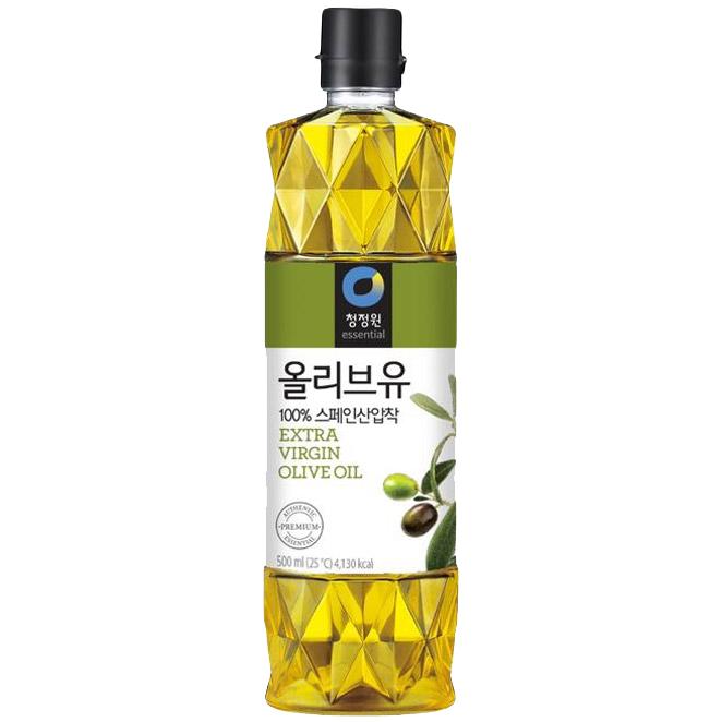 청정원 엑스트라버진 올리브유, 500ml, 1개