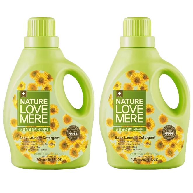 네이쳐러브메레 꽃을 담은 세탁세제 국화꽃향 1800 ml, 2개