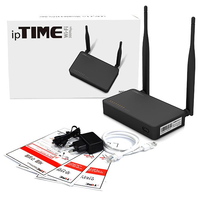 ipTIME N604 BLACK 유무선공유기, N604 BLACK 유무선공유기 + 0.7m 랜선, 1세트