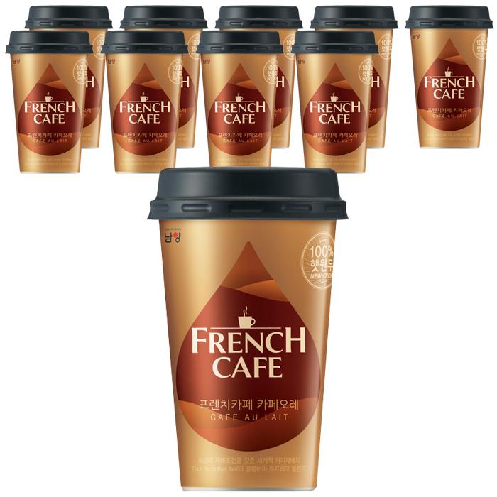 프렌치카페 카페오레 커피음료, 10개, 200ml