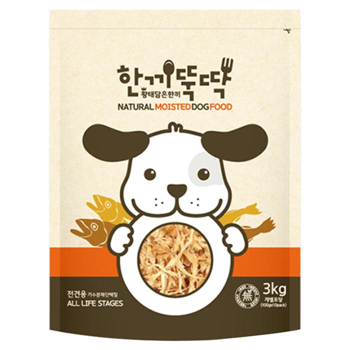 한끼뚝딱 황태와 소고기 반려동물 습식사료, 3kg, 1개