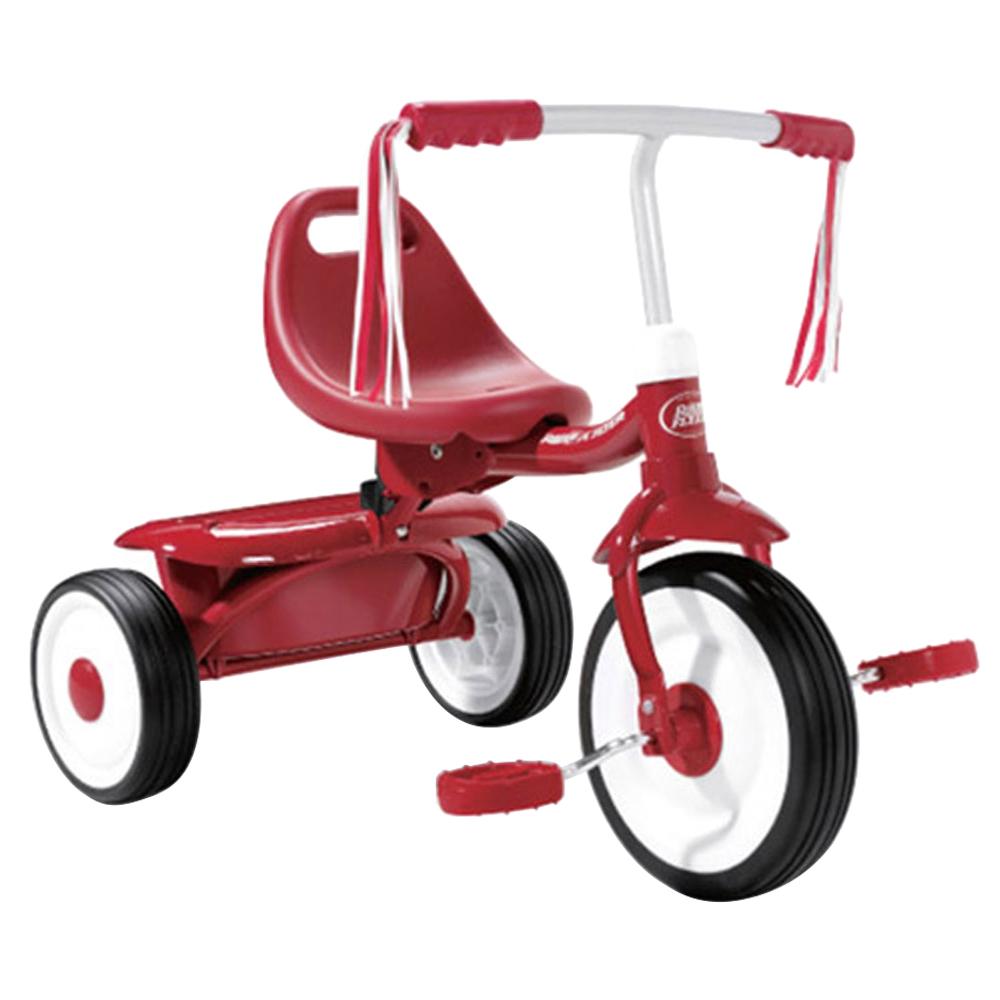 라디오플라이어 접이식 유아용 세발자전거, 레드