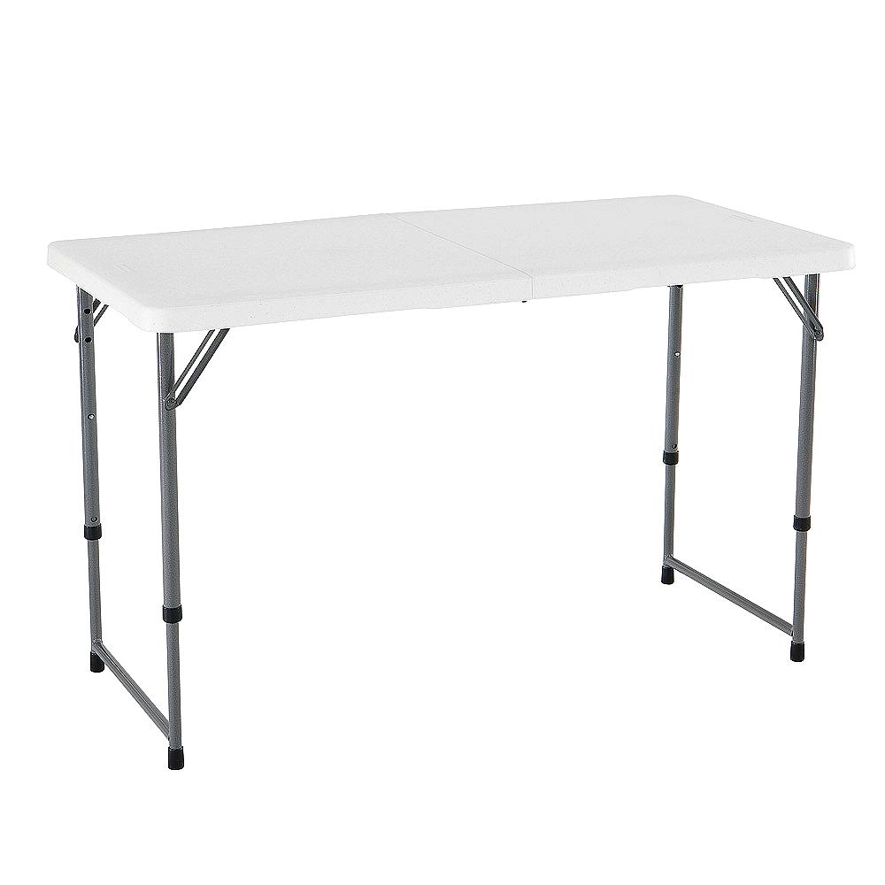 LIFETIME 경량 접이식 테이블, 화이트