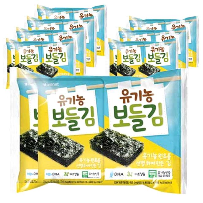 아이배냇 유기농 보들김 16g, 8개