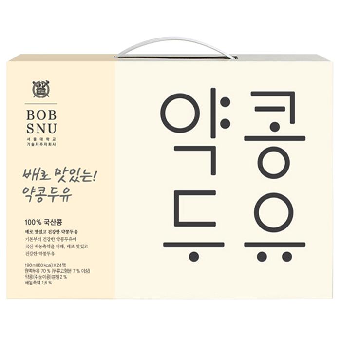 밥스누 배로 맛있는 약콩 두유, 190ml, 24팩