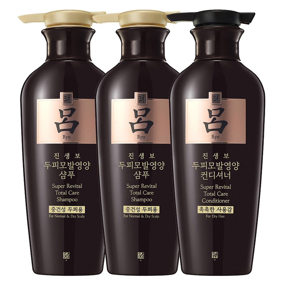 려 진생보 두피모발영양 중건성 3종 세트, 1세트