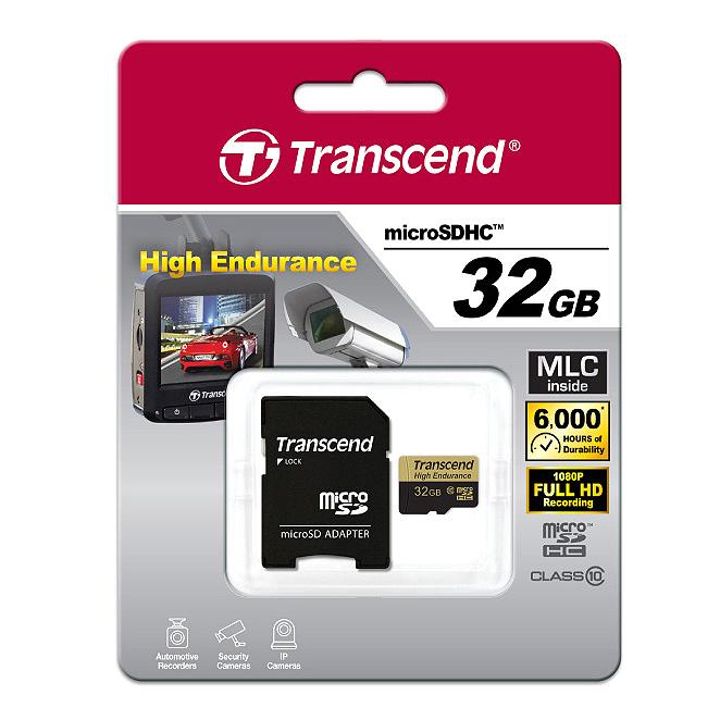 트랜센드 블랙박스전용 MicroSDHC 메모리카드 TS32GUSDHC10V, 32GB