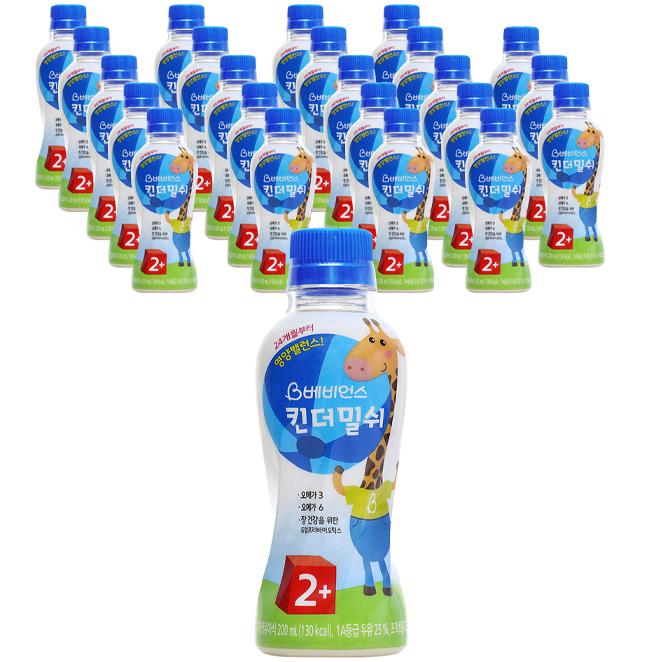 베비언스 킨더밀쉬 우유 2단계 24개월부터 200ml, 24개입