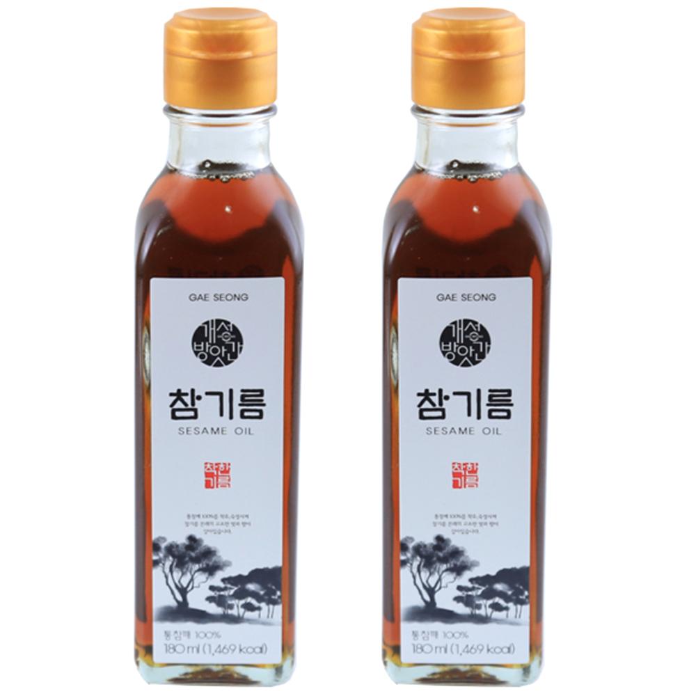 개성방앗간 고소한 맛이 살아 있는 참기름, 180ml, 2개입