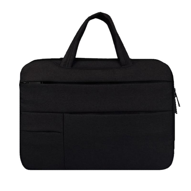 플럭스 핸디 포켓 노트북 가방 파우치 딥 블랙, 15in