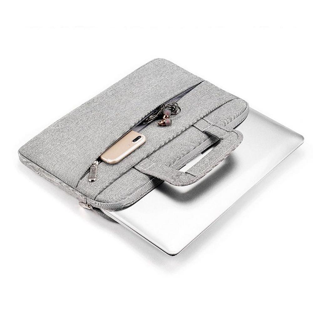 플럭스 사이드킥 노트북 가방 파우치 브리프케이스, 심플 그레이, 15.6in