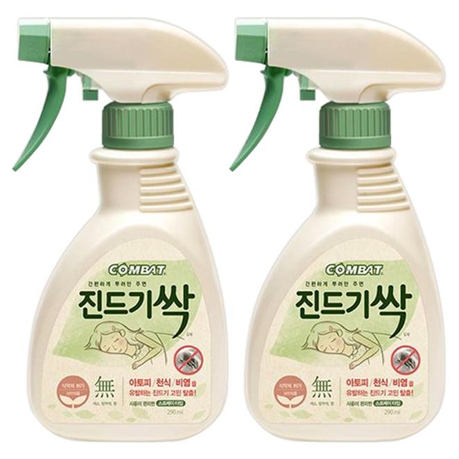 컴배트 진드기싹 스프레이, 290ml, 2개