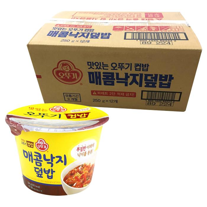 오뚜기 맛있는 컵밥 매콤낙지덮밥, 250g, 12개