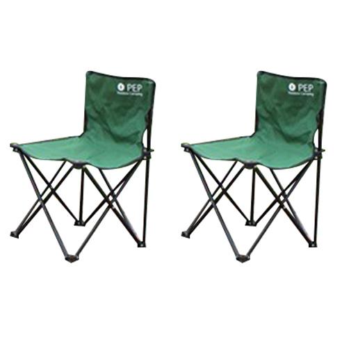 PEP 캠핑의자 접이식/그라운드 체어, 펩체어중형(그린)1+1, 2개