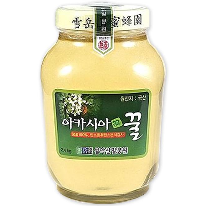 설악산밀봉원 [산지직송] <꽃꿀100%> 아카시아꿀, 2.4kg, 1병