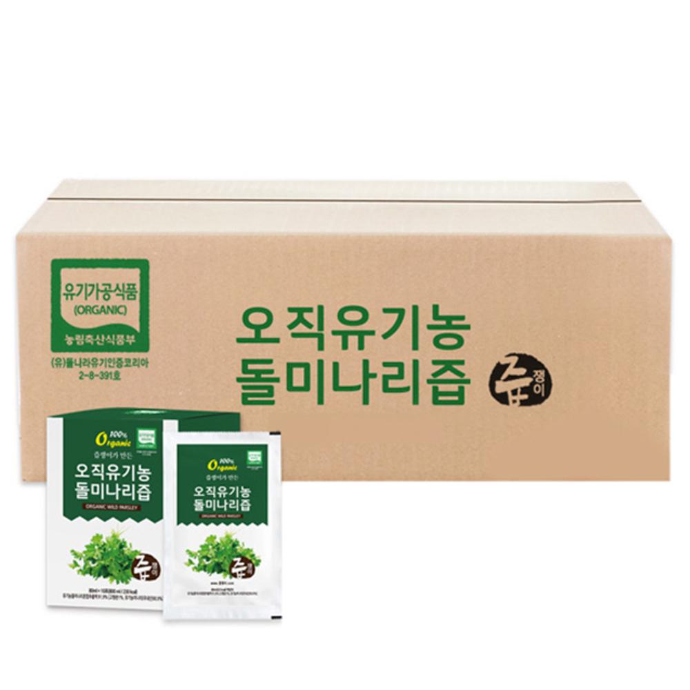 [유기농 즙] 즙쟁이 오직 유기농 돌미나리즙, 80ml, 100개입 - 랭킹36위 (46860원)