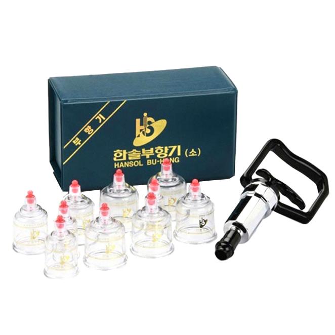 한솔부항기 수동식 부항기 + 컵 10p 세트 HS-A, 1세트