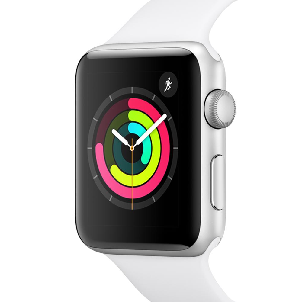 Apple 애플워치3 GPS 42mm + 알루미늄 케이스, MTF22KH/A, 실버(MTF22KH/A), 화이트(밴드)