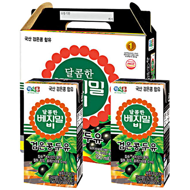 달콤한 베지밀 비 검은콩 두유 190ml 64개