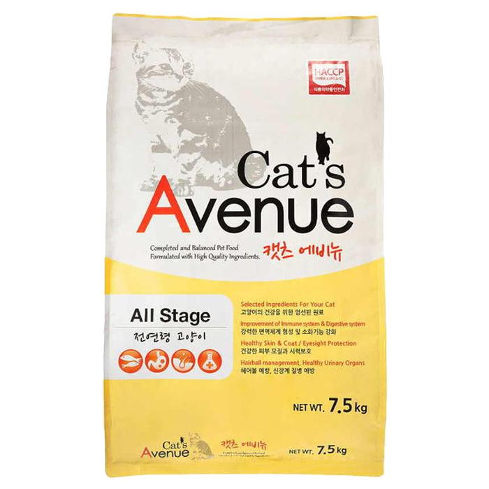 캣츠에비뉴 고양이 사료, 7.5kg, 1개