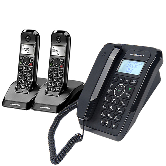 모토로라 스타텍 2.4GHz 디지털 유무선전화기 SC250A + 증설휴대 1대