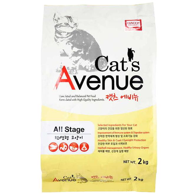 캣츠에비뉴 고양이 사료, 2kg, 1개
