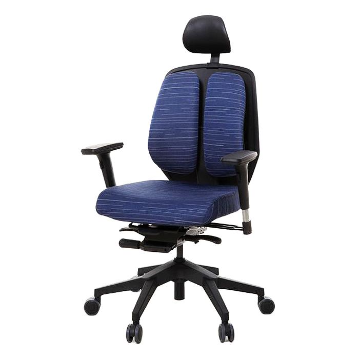 듀오백 듀오텍스 DT-A100S 천연라텍스 의자, 블루