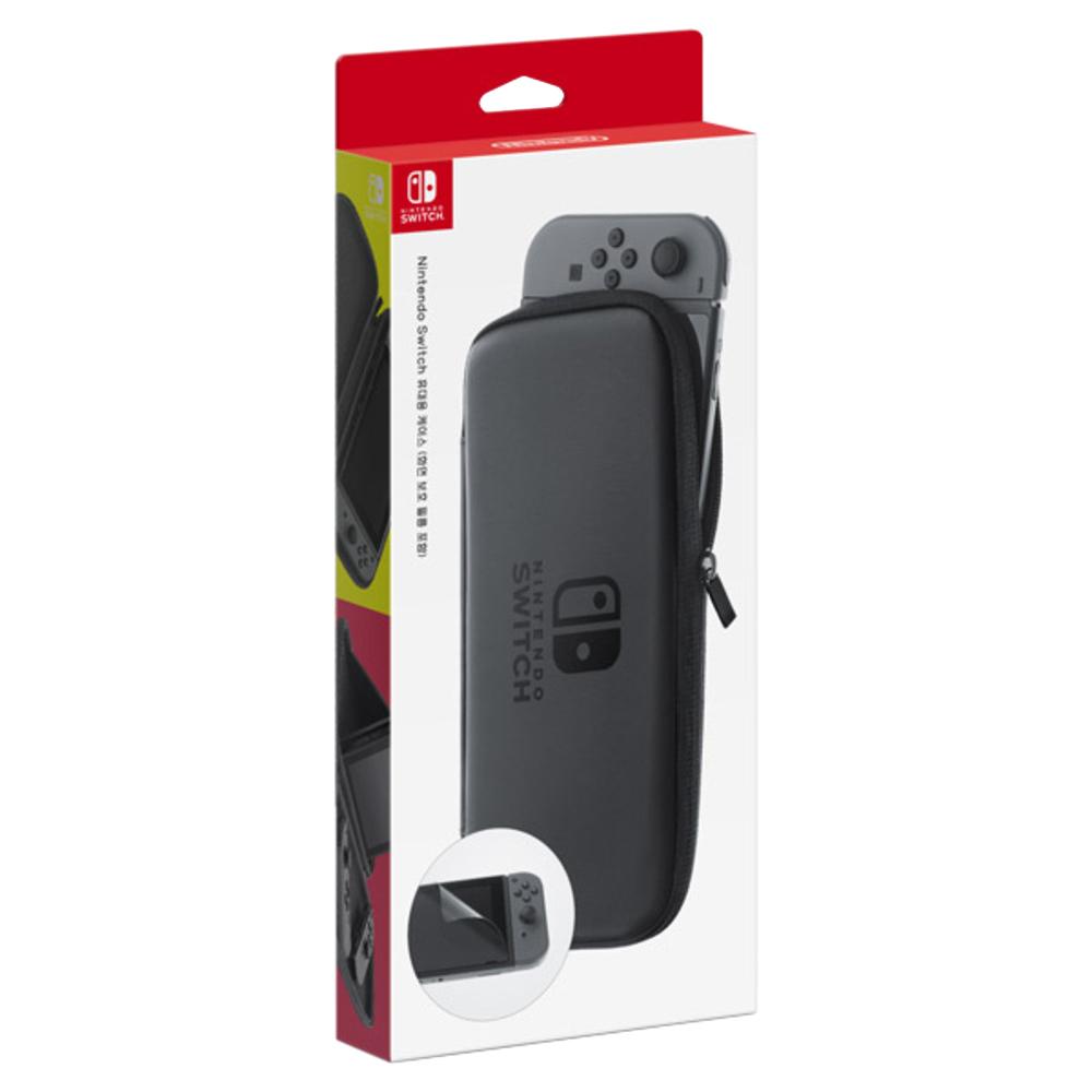닌텐도 스위치 휴대용 케이스 + 보호필름, 단일 상품, 1세트