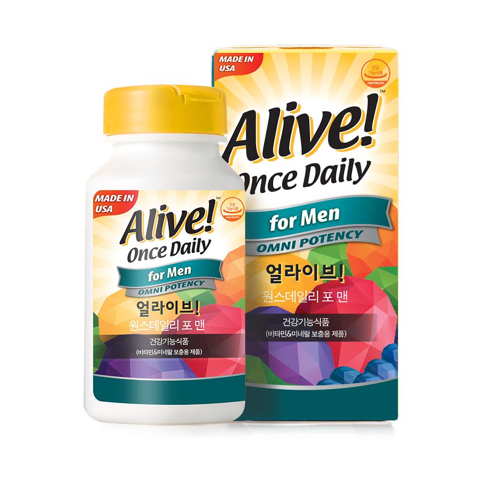 얼라이브 원스 데일리 포맨 멀티 비타민, 60정, 1개