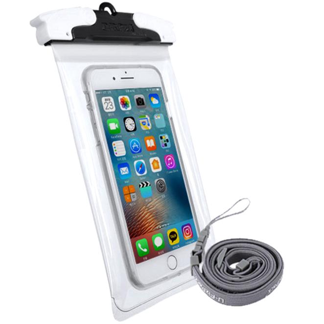 유픽스 라운드 투명 스마트폰용 방수팩, 블랙, 1개