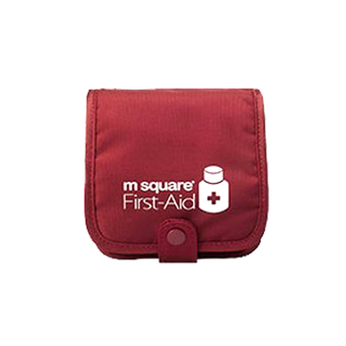 m square 프리미엄 휴대용 알약키트 알약케이스 레드 약통(10x10x3.5cm)