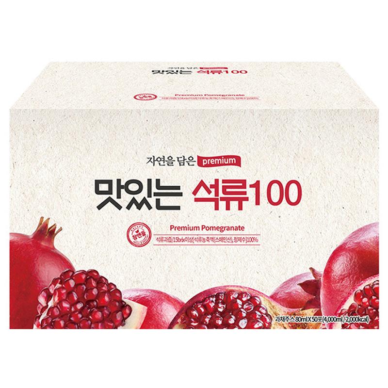 황토농원 맛있는 석류100 건강즙, 80ml, 50포