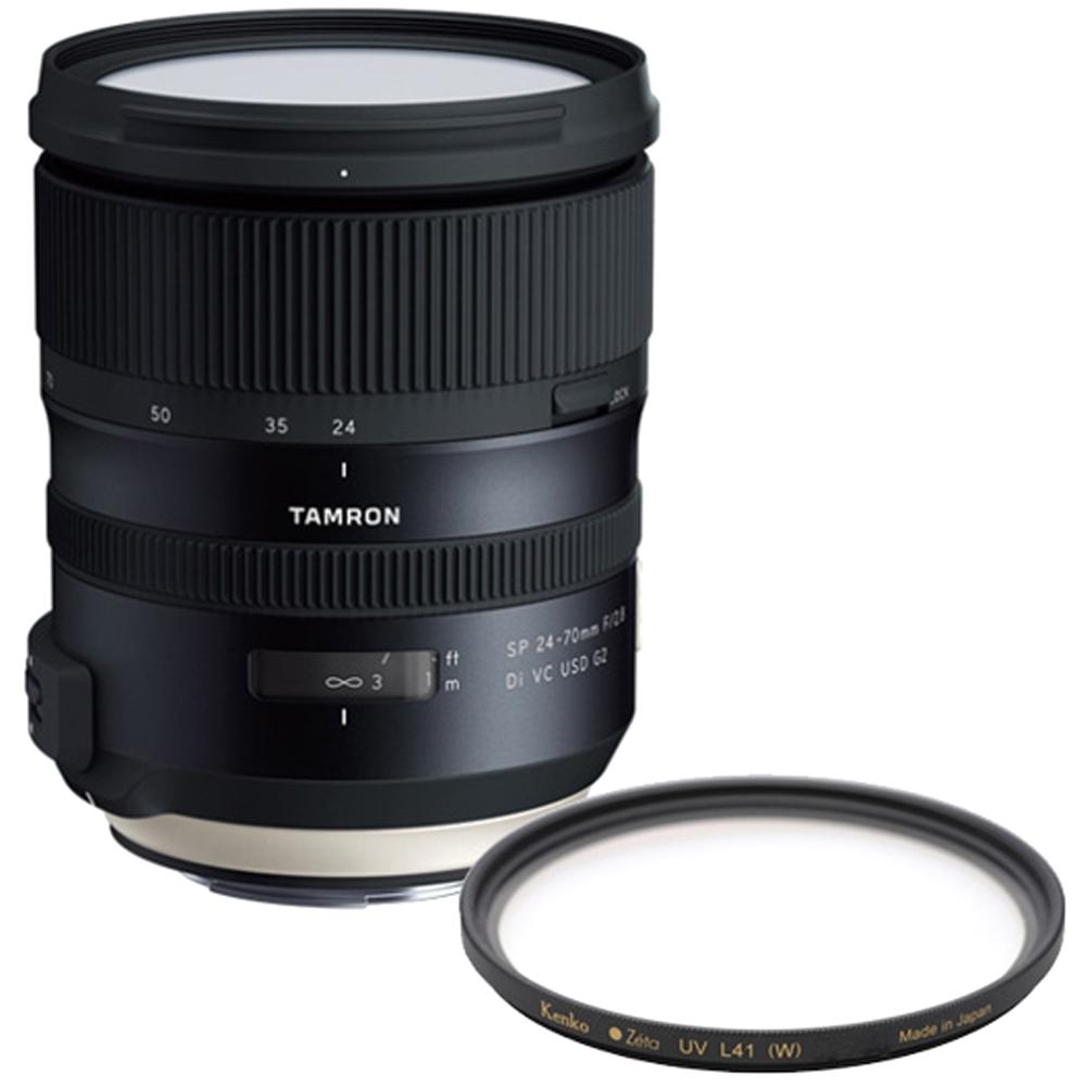 탐론 캐논렌즈 A032 SP 24-70mm F/2.8 Di VC USD G2 + 겐코 필터 Zeta L41 82mm, 렌즈(A032), 필터(L41)
