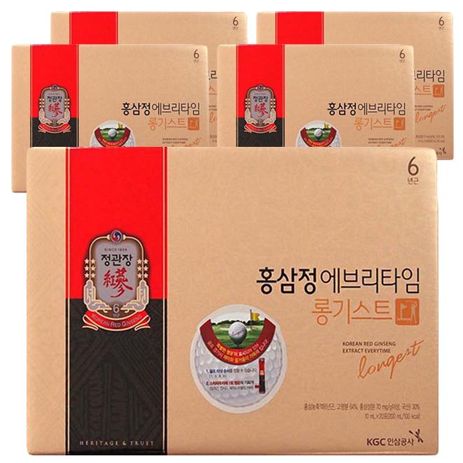 정관장 홍삼정 에브리타임 롱기스트, 200ml, 5세트
