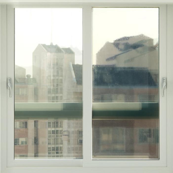 해담 무접착 사계절 창문 단열필름, 투명 브라운