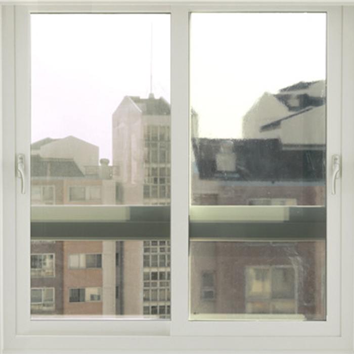 해담 무접착 사계절 창문 단열필름, 투명 그레이