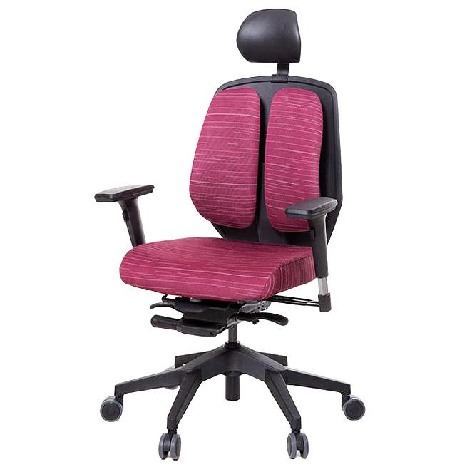 듀오백 듀오텍스 DT-A100S 천연라텍스 의자, 레드