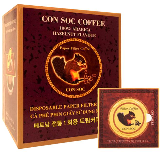 콘삭 페이퍼 필터 헤이즐넛향 커피, 7g, 10개입