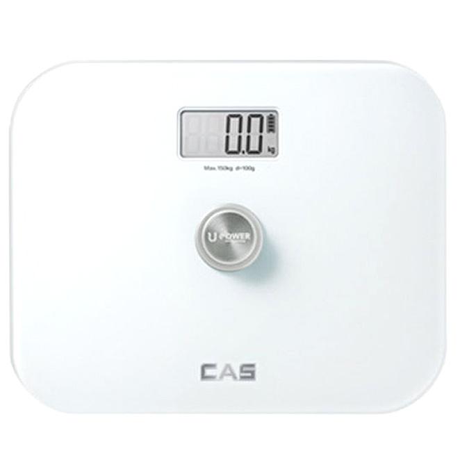 카스 무전원 디지털 체중계, HE-90, 퓨어 화이트