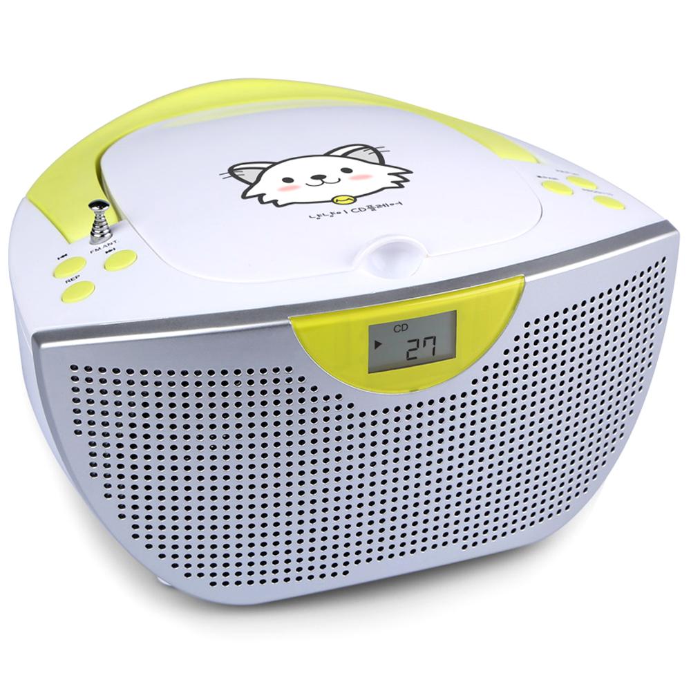 코비 냥냥이 블루투스 CD포터블 플레이어, BTCD7, 화이트