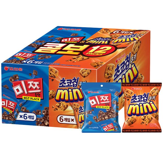 오리온 초코칩 45g x 6p + 미쯔 미니 42g x 6p, 1세트
